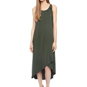Ella Moss Bella wrap dress olive green